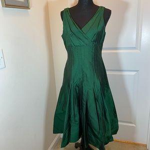 Suzi Chin Silk Wrap Front Dress